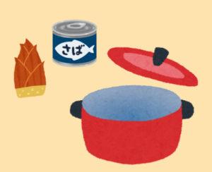サバとタケノコの味噌汁材料